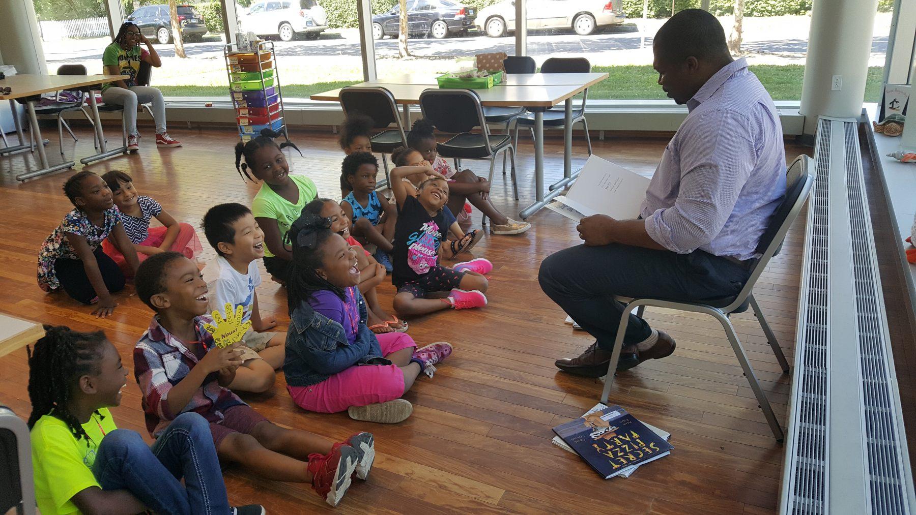 Gary Winfield Reading to Kindergarten Camp