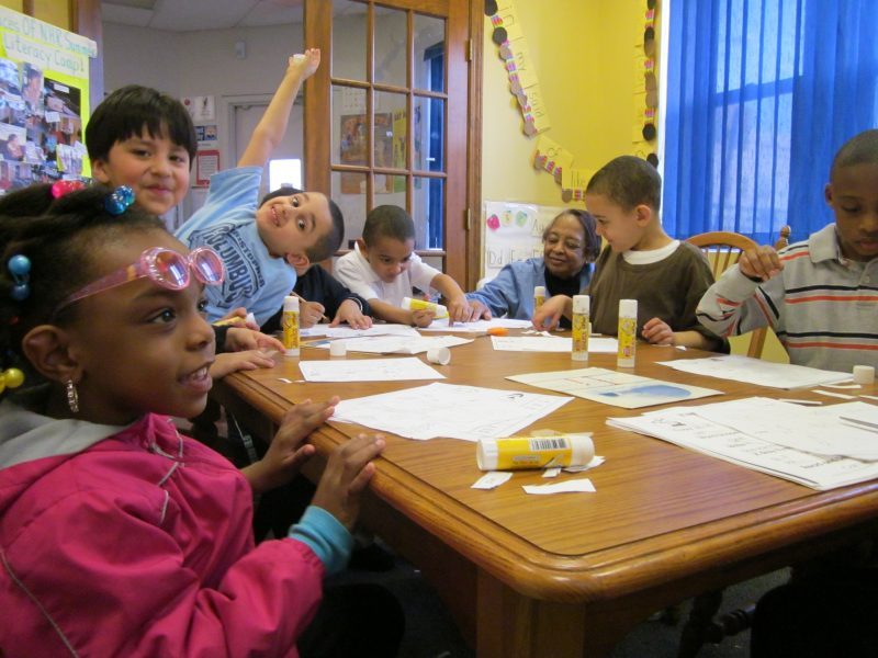 kindergarten students at NHR