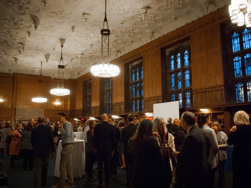 NHR's 15 Year Anniversary reception at Yale Sterling Memorial Library