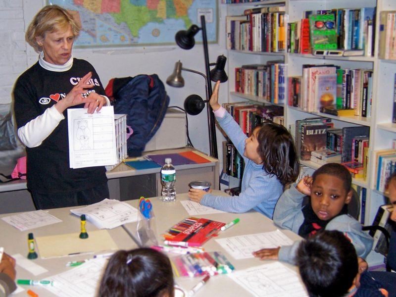 Christine Alexander tutors students