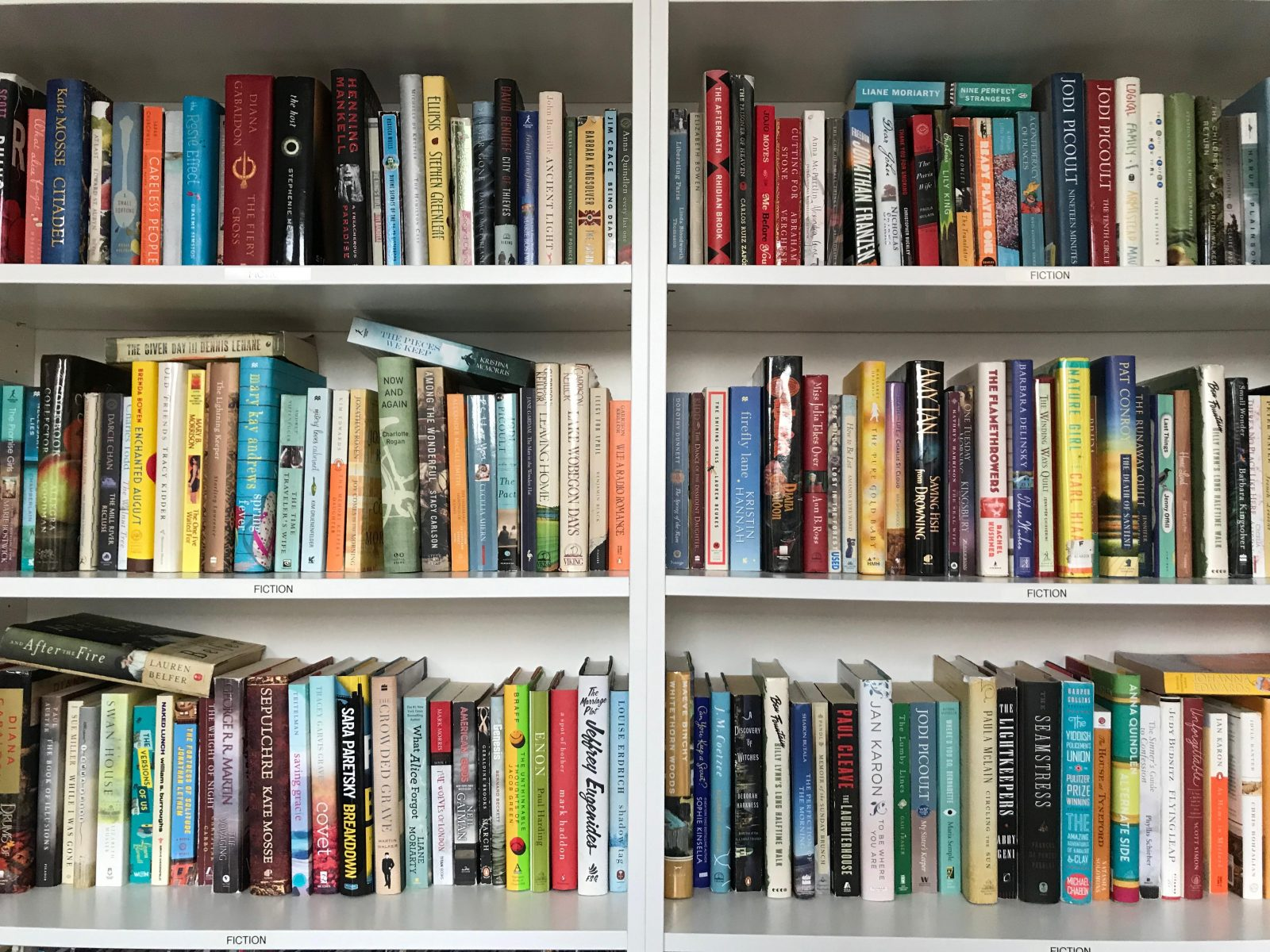Two full bookcases