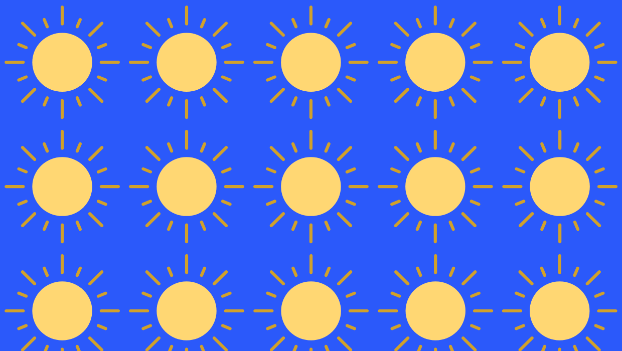 Blue background with repeating sun image